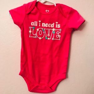 Other - Love body suit 12m baby girl